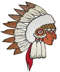 Tribal Chief embroidery design