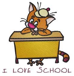 I Love School embroidery design