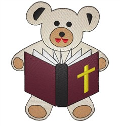 Bear And Bible embroidery design