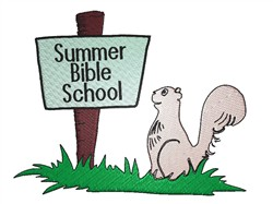 Summer Bible School embroidery design