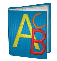 Schoolbook embroidery design