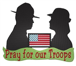 Pray For Our Troops embroidery design