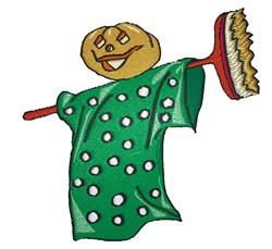 Pumpkin Scarecrow embroidery design
