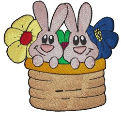 Tub Of Bunnies embroidery design