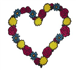 Heart Of Flowers embroidery design