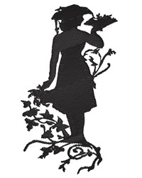 Floral Silhouette embroidery design