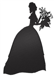 Woman With Bouquet embroidery design