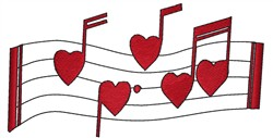 Heart Notes embroidery design