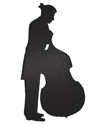 Bass Player embroidery design