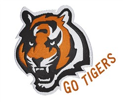 Go Tigers embroidery design