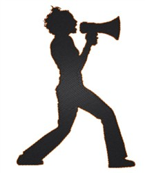 Guy With Megaphone embroidery design