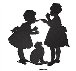 Girls Eating embroidery design