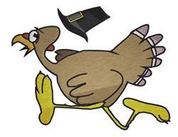 Running Turkey embroidery design