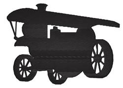 Locomotive Silhouette embroidery design