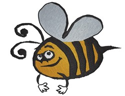 Smiling Bee embroidery design