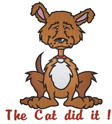 The Cat Did It embroidery design
