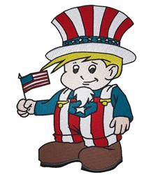 Little Uncle Sam embroidery design