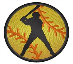 Baseball Silhouette embroidery design