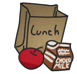 School Lunch embroidery design