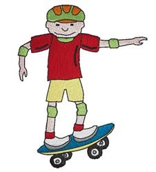 Boy On Skateboard embroidery design