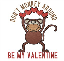 Dont  Monkey Around embroidery design