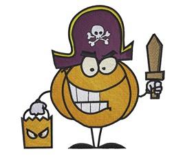 Pumpkin Pirate embroidery design