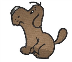 Puppy Sitting embroidery design