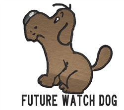 Future Watch Dog embroidery design