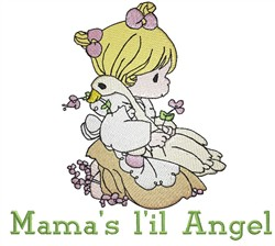 Mamas Lil Angel embroidery design