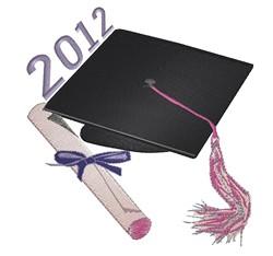 Graduation Cap 2012 embroidery design