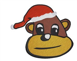 Santa Monkey embroidery design