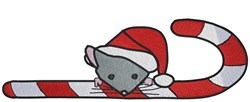 Santa Mouse embroidery design