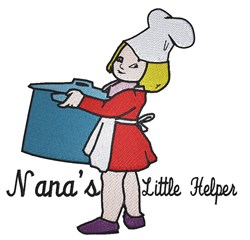 Nanas Little Helper embroidery design