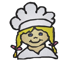 Girl Chef embroidery design