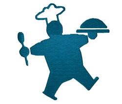 Chef silhouette embroidery design