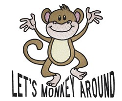 Lets Monkey Around embroidery design