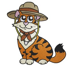 Scout Cat embroidery design