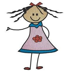 Cute Girl embroidery design