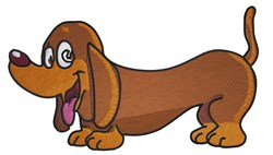 Cute Dachshund embroidery design