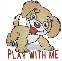 Play With Me embroidery design