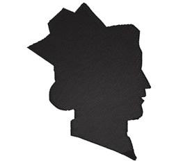 Nurse silhouette embroidery design