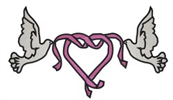 Wedding Doves embroidery design