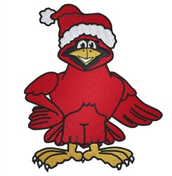 Cardinal Santa embroidery design