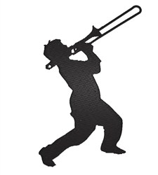 Trombone Player embroidery design