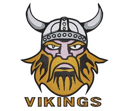 Vikings embroidery design