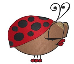 Sexy Ladybug embroidery design