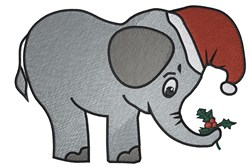 Santa Elephant embroidery design