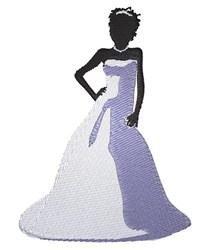 Bride embroidery design
