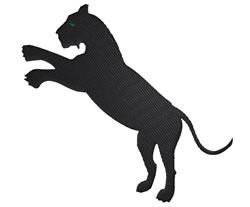 Lion Silhouette embroidery design