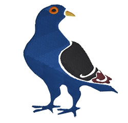 Pigeon  embroidery design